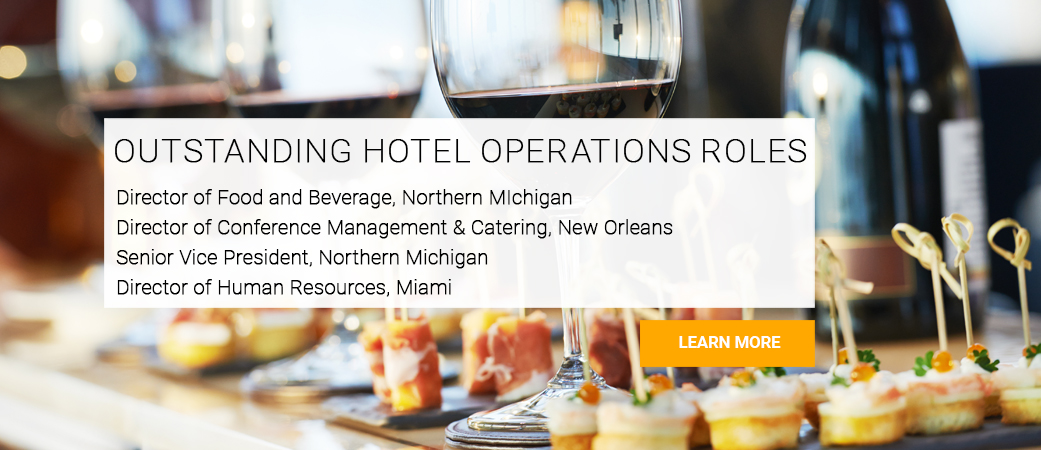 NATIONWIDE JOB OPPORTUNITIES WITHIN HOTEL OPERATIONS ROLES