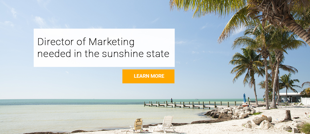 Director of Sales opportunity in the Sunshine State, Florida