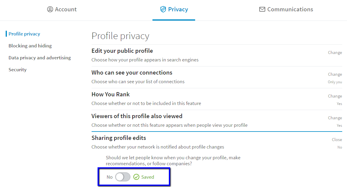 how to change profile picture in linkedin